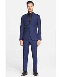 Burberry London Men'S 'Stirling Travel' Extra Trim Fit Virgin Wool Suit - Lyst