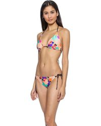 Shoshanna Confetti Triangle Bikini Top - Sand Multi - Lyst