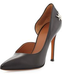 Givenchy Leather Star-stud Half Dorsay Pump - Lyst