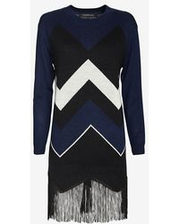 Timo Weiland | Chevron Fringe Sweater Dress | Lyst