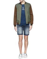 White Mountaineering Saitos® Nylon Varsity Jacket - Lyst