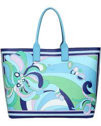 Emilio Pucci Printed Tote Bag - Lyst