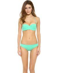 Mara Hoffman Underwire Bustier Bikini Top - Lyst