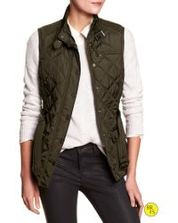 Banana Republic Factory Quilted Puffer Vest - Lyst
