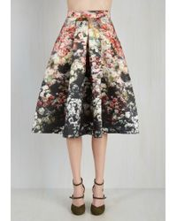 Jolie Moi - Retro Printed A-line Skirt - Lyst