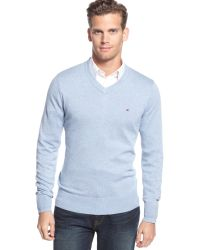 Tommy Hilfiger Signature V-Neck Sweater - Lyst