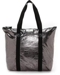 Day Birger Et Mikkelsen Day Gweneth Metallic Tote Bag - Gunmetal - Lyst