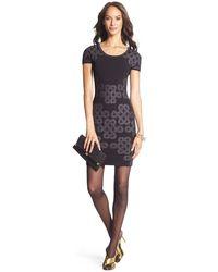 Diane Von Furstenberg Metallic Knit Bodycon Dress - Lyst