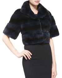 Gorski Cropped Layered Rabbit-Fur Jacket - Lyst
