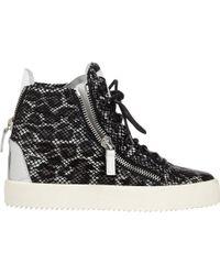 Giuseppe Zanotti Animal Double-zip Sneakers - Lyst