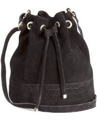 H&M - Suede Bucket Bag - Lyst