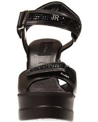 John Richmond - Shoes Gaga Wedge 8+2 Leather With Rhinestone - Lyst