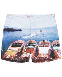 Orlebar Brown 'Bulldog Hulton Getty' Waterskiing Photo Print Swim Shorts multicolor - Lyst