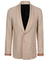 Paul Smith Peach Shawl Collar Linen Blazer - Lyst