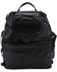 Alexander McQueen Black Leather Tech Backpack black - Lyst