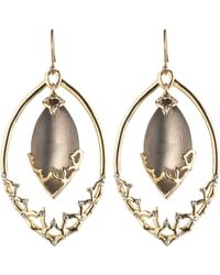 Alexis Bittar Imperial Georgian Lace Orbiting Earring gold - Lyst