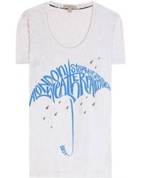 Burberry Brit Printed Cotton T-Shirt - Lyst
