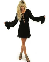 Jen's Pirate Booty   Running Stream Mini Dress In Black   Lyst