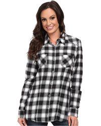 Stetson Black Flannel Shirt - Lyst