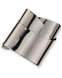 Alexis Bittar Ruthenium Metal Geometric Ribbon Cuff - Lyst