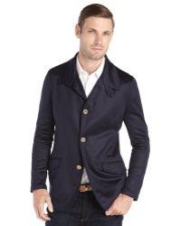 Giorgio Armani Blue Silk and Cashmere 3button Front Blazer - Lyst