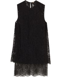 Adam Lippes Double Layer Lace Top - Lyst