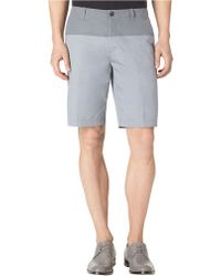 Calvin Klein Slim Fit Twill Colorblock Chino Shorts - Lyst