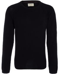 Nudie Jeans Black Crew Neck Jumper - Lyst
