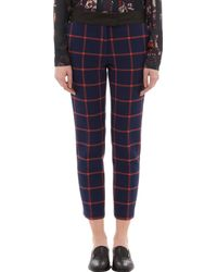 Thakoon Addition - Windowpane Check Cropped Trousers - Lyst