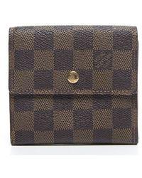 Louis Vuitton | Pre-owned Damier Ebene Elise Wallet | Lyst
