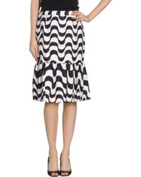 Clements Ribeiro Knee Length Skirt - Lyst