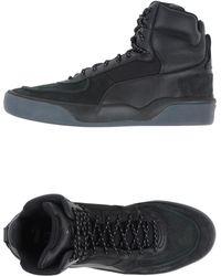 Alexander McQueen x Puma | Brace Neoprene and Nubuck High-Top Sneakers | Lyst