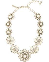 Oscar de la Renta Crystal Necklace - Lyst