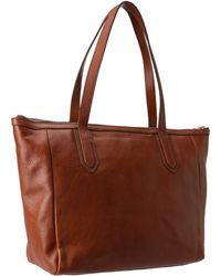 Fossil Brown Sydney Shopper - Lyst