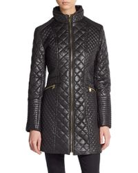 Via Spiga Diamond Quilted Puffer Coat - Lyst