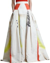 Carolina Herrera Modern Art Print Ball Skirt - Lyst