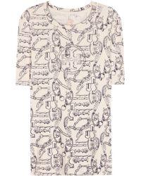 Tory Burch Hanna Cotton T-shirt - Lyst