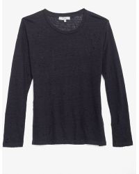 IRO Exclusive Long Sleeve Tee With Holes: Navy - Lyst