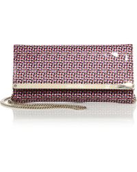 Jimmy Choo | Milla Abstract-print Patent Leather Clutch | Lyst