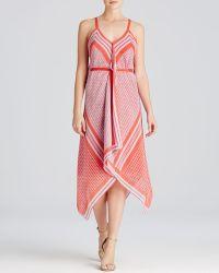 Cynthia Steffe Dress - Tarianna Scarf Print Draped Handkerchief Hem red - Lyst