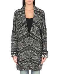 Free People Hidden Snowflake Knitted Cardigan - Lyst