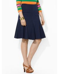 Lauren by Ralph Lauren Blue A-line Skirt - Lyst