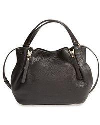 Burberry Women'S 'Small Maidstone' Leather Satchel - Black - Lyst
