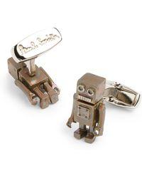 Paul Smith Tin Robot Cufflinks - Lyst