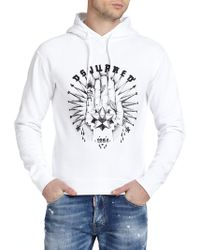 DSquared² Graphic Cotton Hoodie - Lyst