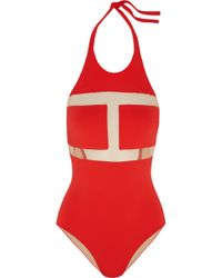 I.D Sarrieri - Abracadabra Mesh-paneled Halterneck Swimsuit - Lyst