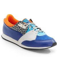 Alexander McQueen x Puma Leather Colorblock Jogging Sneakers - Lyst