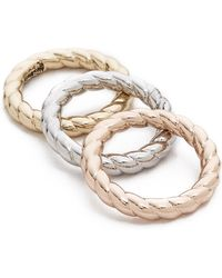 Sam Edelman - 3 Piece Twisted Rope Rings - Lyst