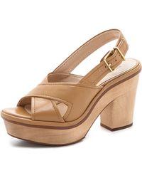 Pour La Victoire - Pabla Platform Sandals - Lyst