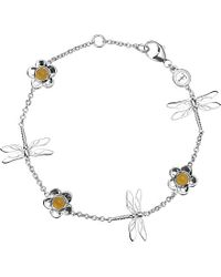 Theo Fennell - Sterling Silver And Blue Jade Dragonfly Bracelet - For Women - Lyst